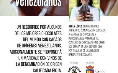 Cata de chocolates venezolanos y vinos de La Rioja jueves 23 de noviembre