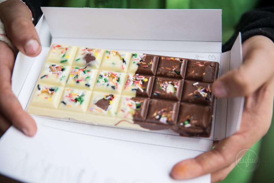 curso tabletas de chocolate para niños