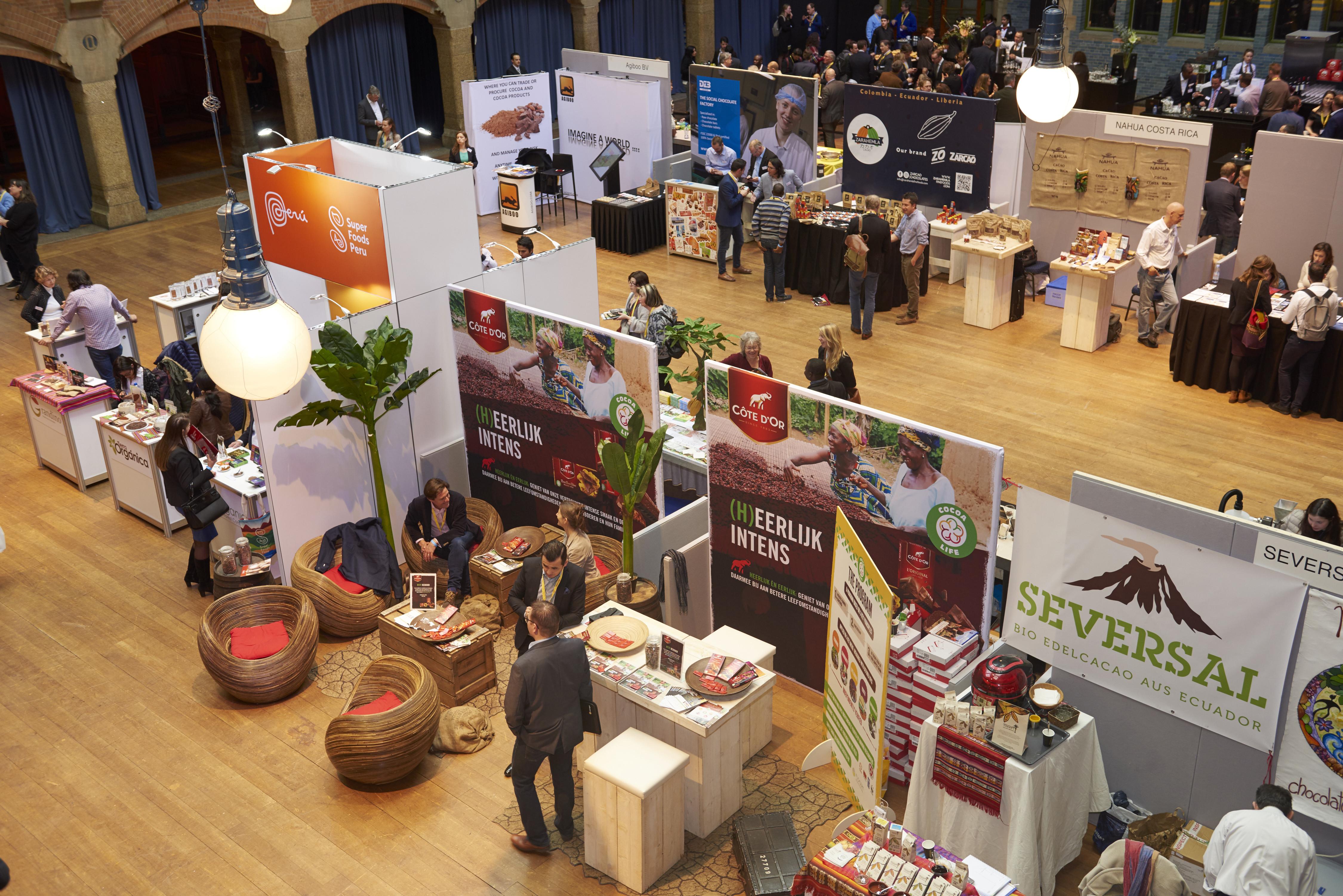 Feriantes en Chocoa en Ámsterdam
