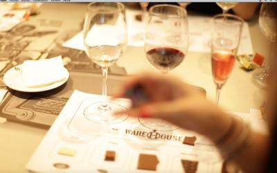 Cata de vinos en Madrid con chocolate para empresas